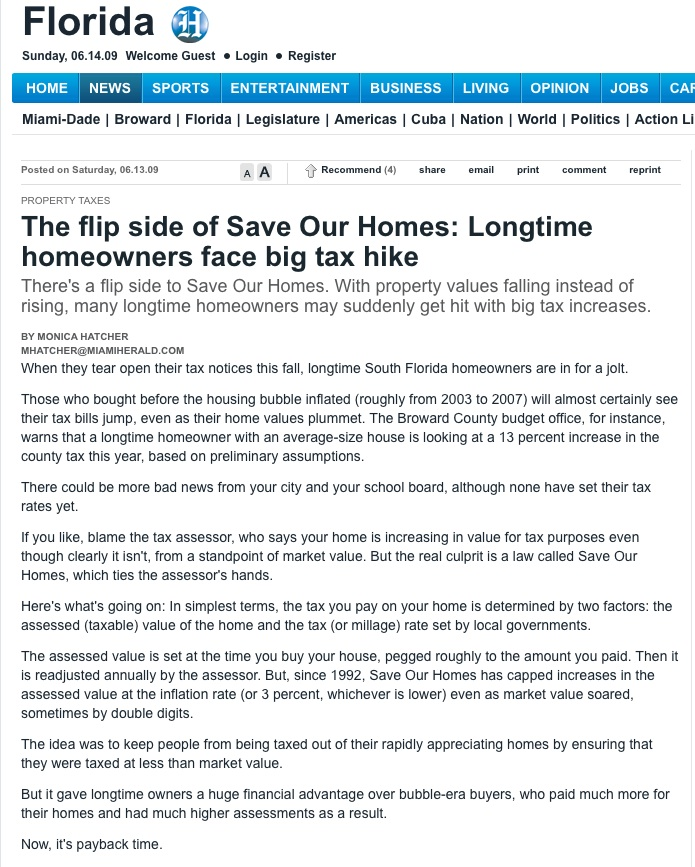 save our homes florida