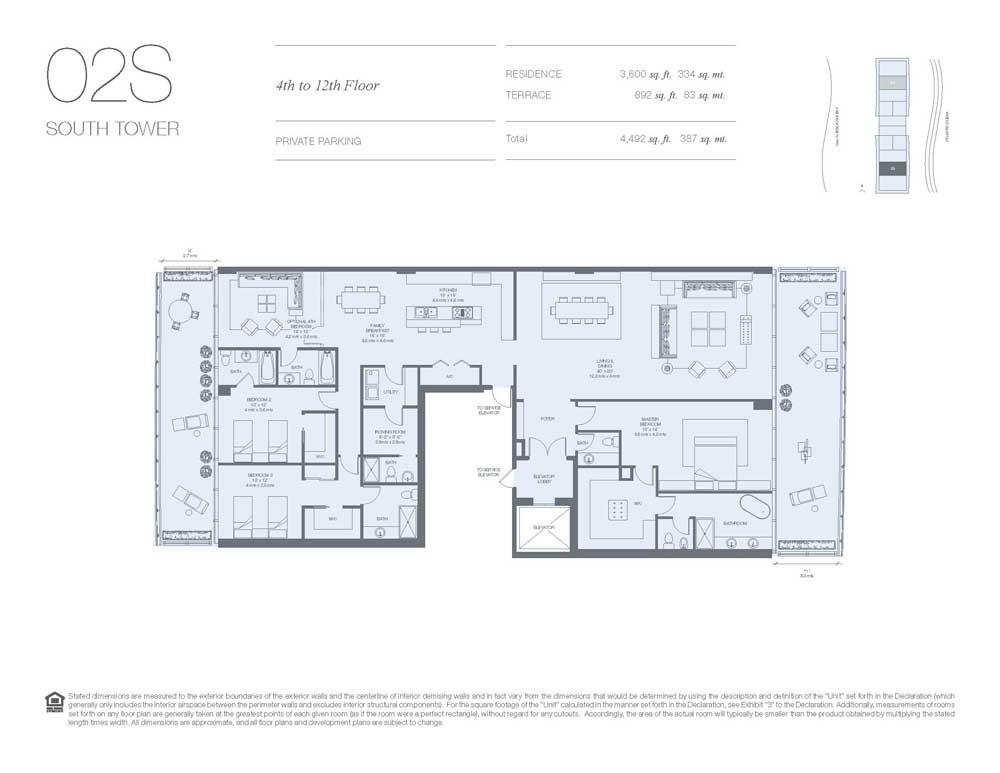 Oceana Key Biscayne Floor Plans