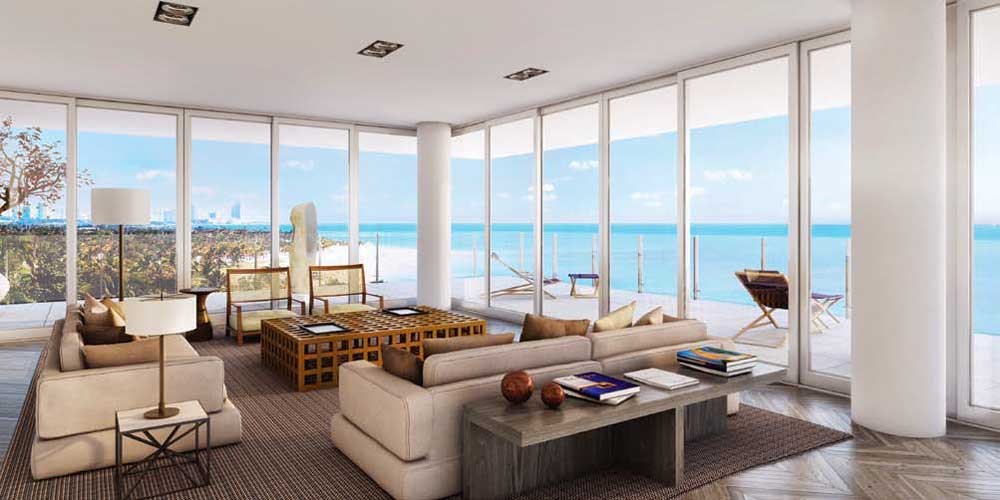 Oceana Key Biscayne Living Space