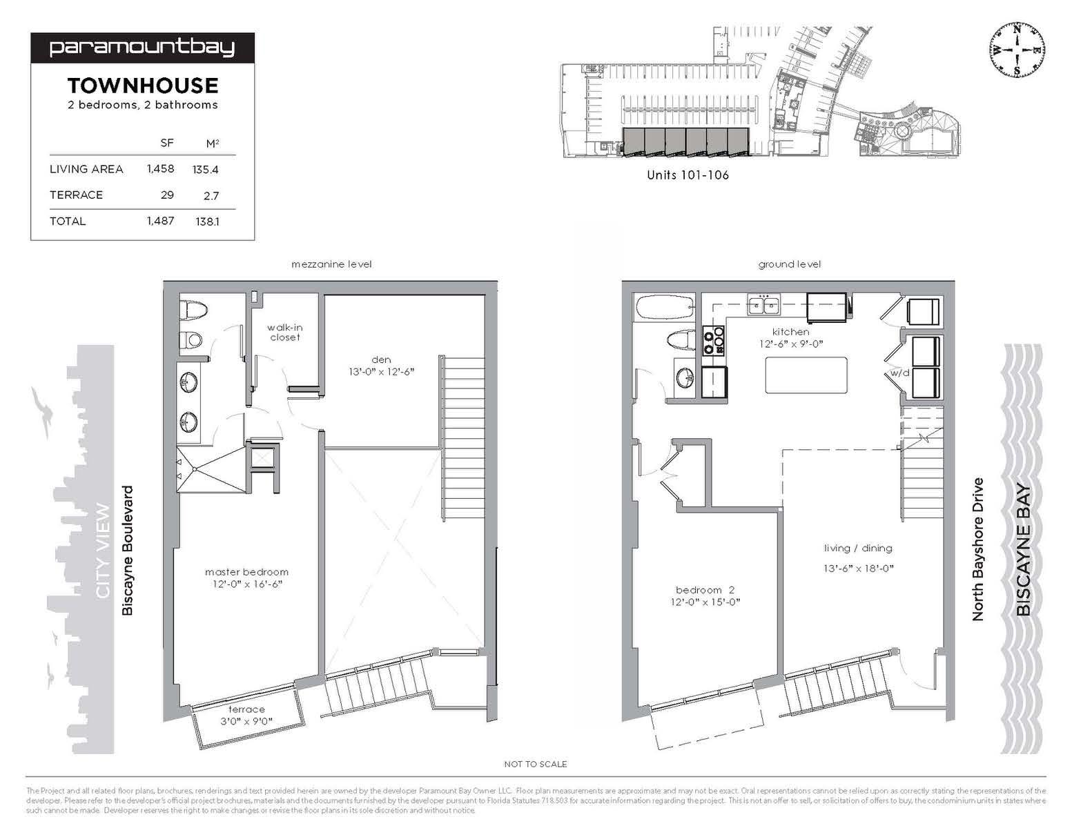 Paramount Bay Miami Floorplan