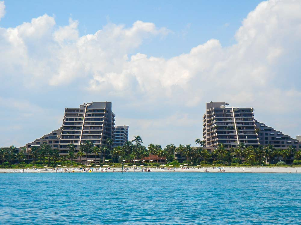 Key Colony Key Biscayne as seen from Ocean