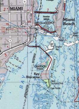 Key Biscayne Miami map
