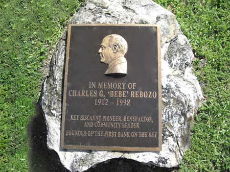 Bebe Rebozo Plaque on Key Biscayne