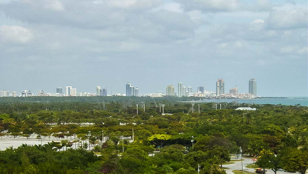 View of Miami Beach from Key Biscayne