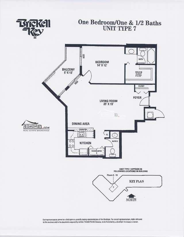 Brickell Key II Floor Plan