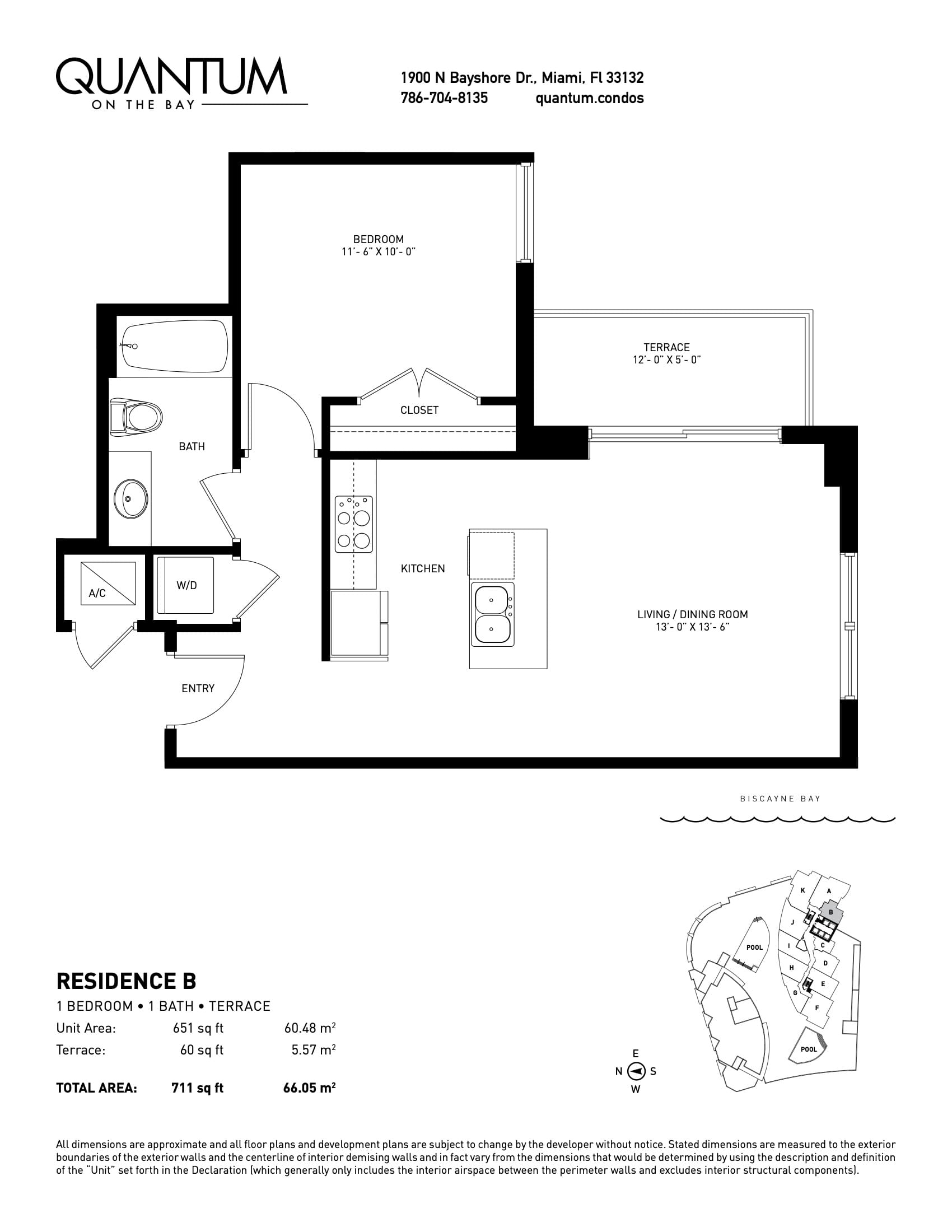 EMH3 Real Estate Quantum on the Bay Residences Floorplan