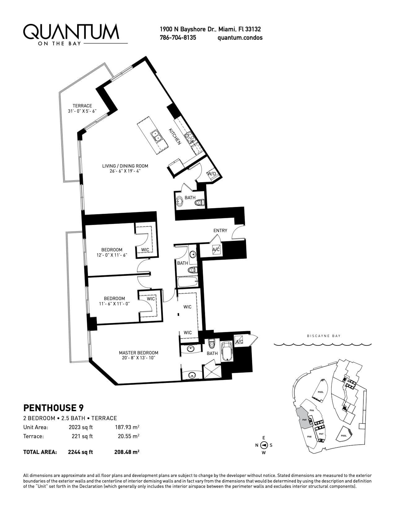 EMH3 Real Estate Quantum on the Bay Penthouse Floorplan