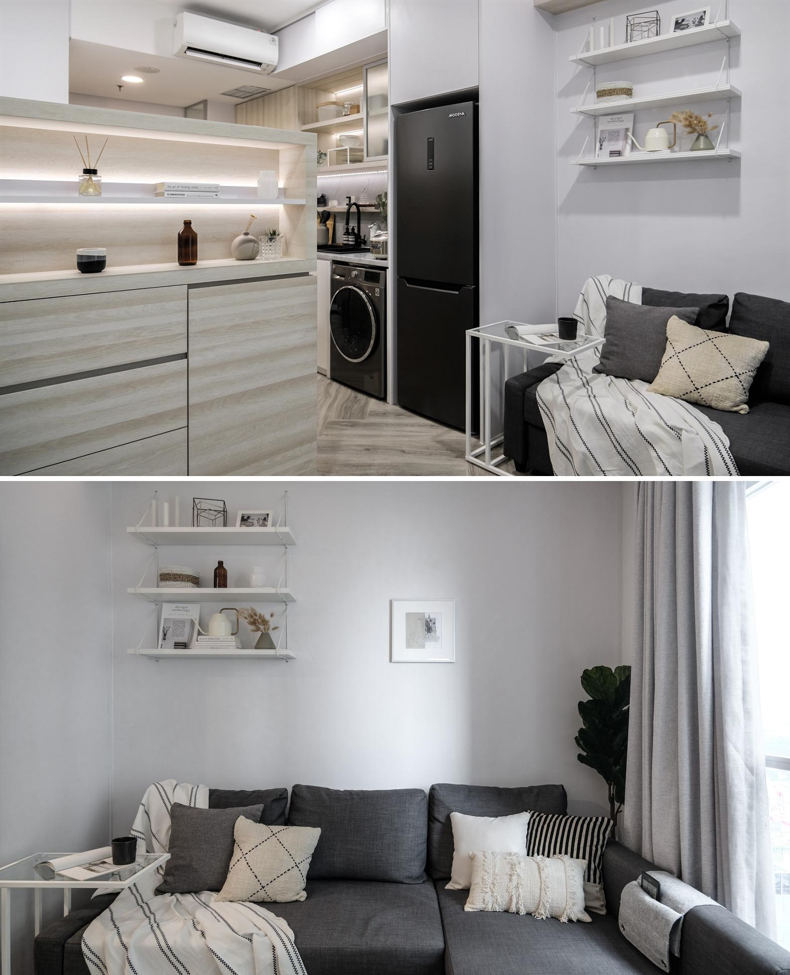 A Loft Bed With Storage Underneath Makes This Small Micro Apartment More Liveable 7