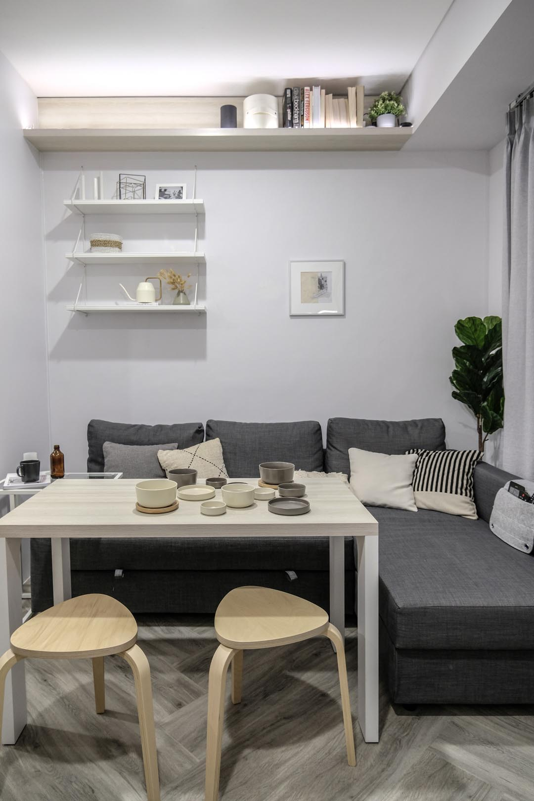 A Loft Bed With Storage Underneath Makes This Small Micro Apartment More Liveable 6
